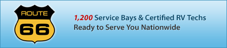 1200 service bays & certified RV techs