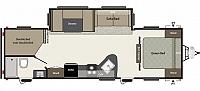 2017 KEYSTONE SPRINGDALE SUMMERLAND SERIES 2820BH